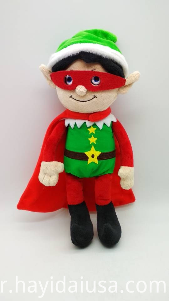 Plush Soft Toy Christmas Elf Super Hero 2