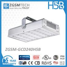 Lumière élevée industrielle de baie de 240W LED avec le mouvement Senson