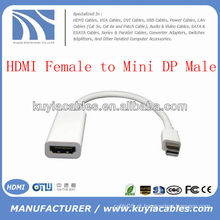 HDMI para Mini DP Display Port Adapter Cabo F / M para Macbook