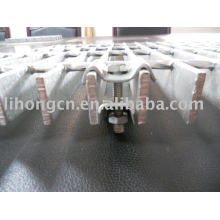 Installation fastener clips for steel grating