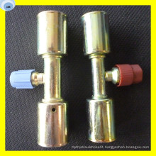 Male Insert O Ring AC Fitting with Access Valve R134A