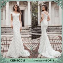 Elagant Artweiß, der wulstiges Hochzeitsfestkleid-Nixe-Hochzeitskleid kennzeichnet