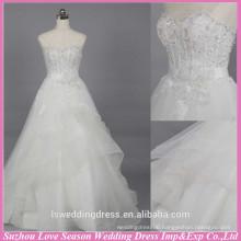 WD6019 Quality fabric heavy handmade export quality designer wedding gown bridal church wedding dress
