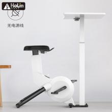 Schlankes Fitnessgerät Indoor Cycling Bike mit Tisch