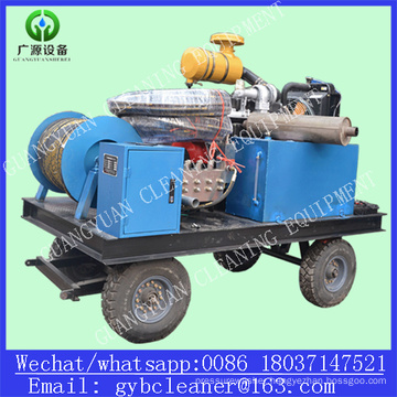 Diesel 110kw Drain Pipe Washer High Pressure Water Jet Sewer Cleaning