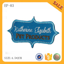 EP-03 Garment embroidered letter logo patch