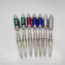 2 в 1 рекламный светодиодные Световое перо с шариковой ручкой, свет шариковая ручка