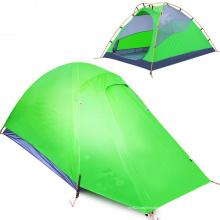 Tente de voyage anti-pluie double gel de silice en aluminium pour camping en plein air