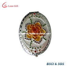 Engraved Oval Beauty Makeup Mirror