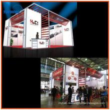 doppelstöckiger ausstellungsstand mit aluminiumextrusionsdisplays für modulare display booth aus shanghai