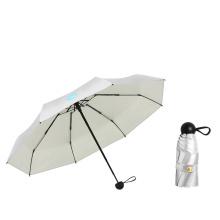 19inch*8K 5 Super Mini Titanium Silver Coated Good Sunproof Umbrella