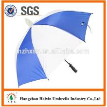 Azul e guarda-chuva branco reto
