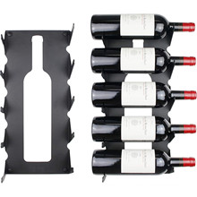 2020 New black metal 5 bottles holder wall mounted iron wine racks for home decor