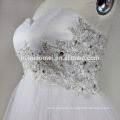 Sexy sweet heart off shoulder evening dress white color hand beaded zipper back evening dress short wholesale