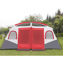 Zwei Schlafzimmer Camping Rainproof 8-10-12 Menschen Zwei Schlafzimmer Zelt