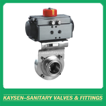DIN Hygienic Clamp Butterfly Valves Пневматический привод
