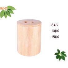 Круглый резиновый деревянный ящик для хранения риса