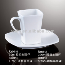 95ml square espresso cup&mug with saucer