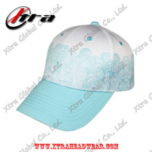 Polyester Spindrift Pattern Printing Baseball Caps Velcro Closure