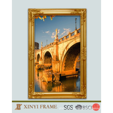 Decorative wooden wall painting frame,wood carved mirror frame