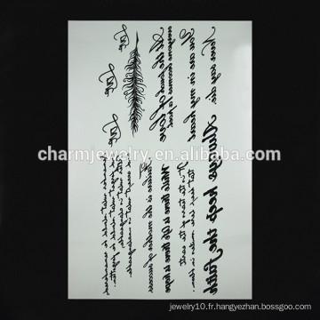 OEM gros rune motif tatouage tatouage tatouage tatouage tatouage tatouage temporaire pour la main W-1097