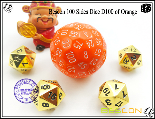 Bescon 100 Sides Dice D100 of Orange-2