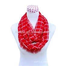 Bufanda del infinito de la tela escocesa del algodón de las señoras de la manera