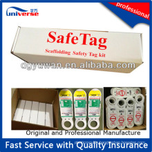 Tagging System for Plastic Scaffolding Holder Tags