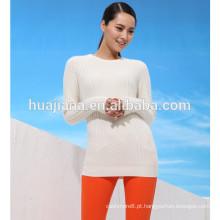 camisola branca de mulher caxemira misturada