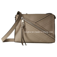 Front Asymmetrical Zip Pocket Ladies Handbag (ZXS0078)