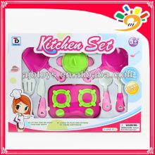 Beautiful children play set plastic kitchen set /cooking set/dinnerware set toys