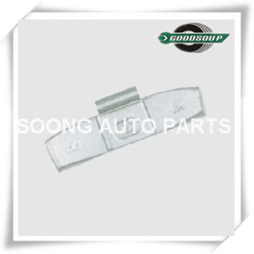 Grampo de aço / Fe em Pesos de Balanceamento de Rodas para a roda de aço (caminhão), Revestimento de Poliéster Epóxi, Fenda de Grampo 5.5mm