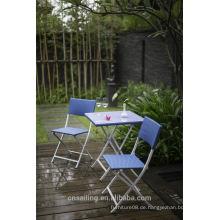 Beliebte Patio Wasserdichte blau Kunststoff Outdoor Stuhl Preis