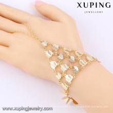 73862 Xuping pulseras de mano de cadena larga de diseño único con buena calidad