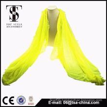 2015 new product viscose yellow scarf instant shawl