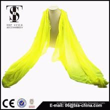 2015 nuevo producto viscosa bufanda amarilla shawl instantáneo