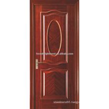 Luxury Red Oak Veneered interior swinging shutter MDF doors