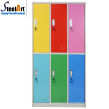 Modernes Design Schlafzimmer Möbel sechs Tür Stahl Almirah Kleiderschrank