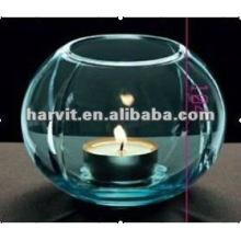 clear glass hurricane lamp