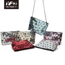 Geometric waterdrop chain handbag for women makeup bag