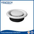 Válvula de disco de metal e plástico ar para HVAC teto WC