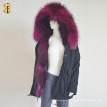 Factory Wholesale Price Raccoon Fox Warm Parka Winter Fur Jacket