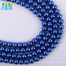 hochwertige 4 mm royalblau lose Glasperlen Strang DIY Perlen XULIN Charm Glas Perlenkette Modeschmuck Perlen