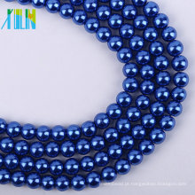 Alta qualidade 4mm royalblue pérola de vidro solto DIY beads XULIN Charme Colar de Pérolas De Vidro Moda Jóias Pérola Beads