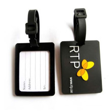 Black Soft PVC Luggage Tag by Professional Manufacturer (LT-03)
