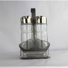 Glas Gewürz Set Gewürz Set mit Metall Rack Best Selling