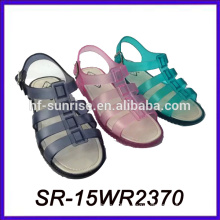ladies flat high heel sandal jelly shoes women plastic jelly shoes women