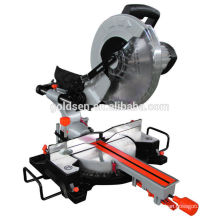 "Latest 305mm 12"" 1800w Long Life Portable Wood Aluminum Cut-Off Saw Machine Induction Motor Electric Sliding Miter Saw"