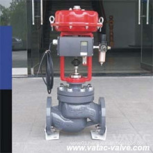 Pneumatic Operated Globe Control Valve with Flanged Ends