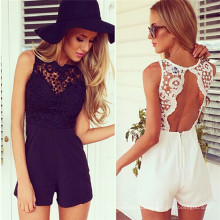 2015 Summer Fashion Lace Chiffon Sexy Jumpsuits for Ladies (50154)